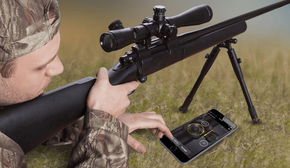 telemetro balistico laser atn compatible con vision nocturna y visores de caza clasicos